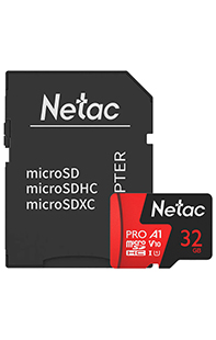 Купить карта памяти netac p500 extreme pro 32 gb class 10  sd adapter
