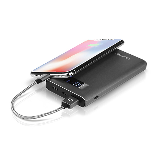 Купить кабель qumo usb to lightning  0,15м mfi nylon+metal