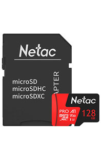 Купить карта памяти netac p500 extreme pro 128 gb class 10  sd adapter